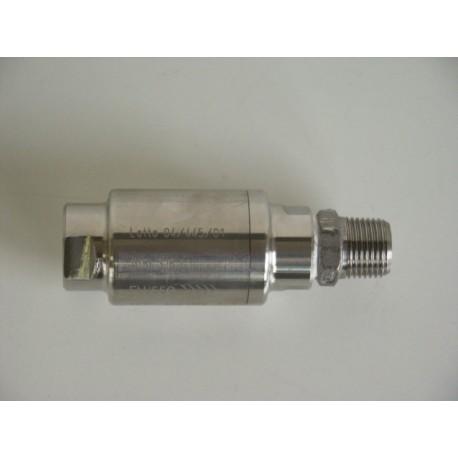 Clapet anti-retour mâle/femelle - inox 316