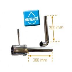 Coude décanteur DIN DEMONTABLE pour cuve inox-304