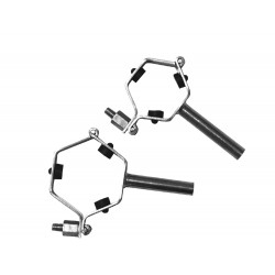 COLLIER PORTE-TUBE HEXAGONAL avec embase a souder-304